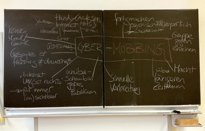 Schrittweise Erweiterung der Mobbing-Definition um das Phänomen Cybermobbing